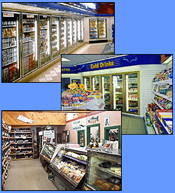 Commercial refrigeration equipment (reach-in and walk-in coolers and freezers, merchandisers, display cases) for convenience stores.